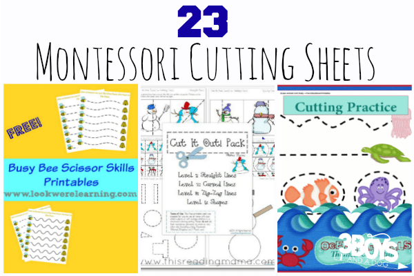 23 Montessori Cutting Sheets