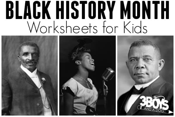 Black History Month Worksheets for Kids