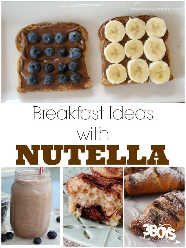 Breakfast Ideas with Nutella
