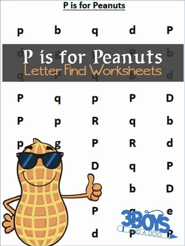 Find the Letter P is for Peanuts