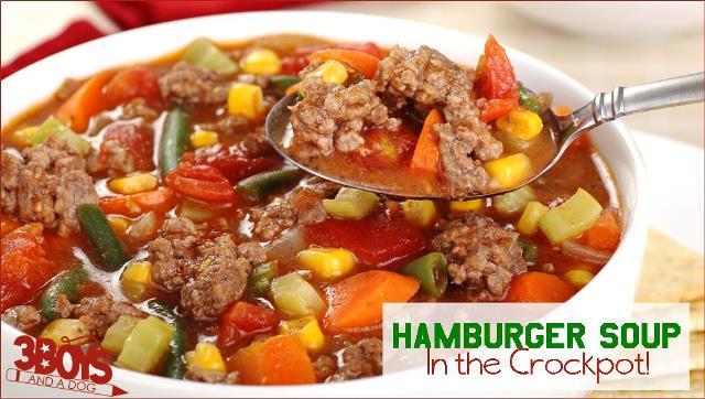 Hamburger Soup in the Crockpot