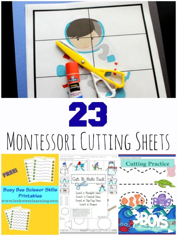 Montessori Cutting Sheets