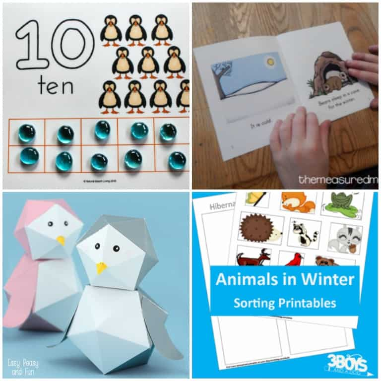 Under the Snow Animal Printables