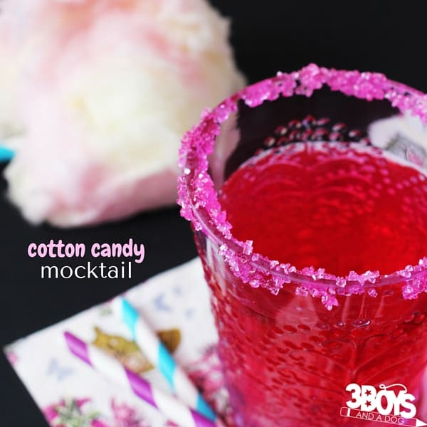 Yum! This Cotton Candy Mocktail is just two ingredients - and would be a total hit at your daughter's next sleepover!