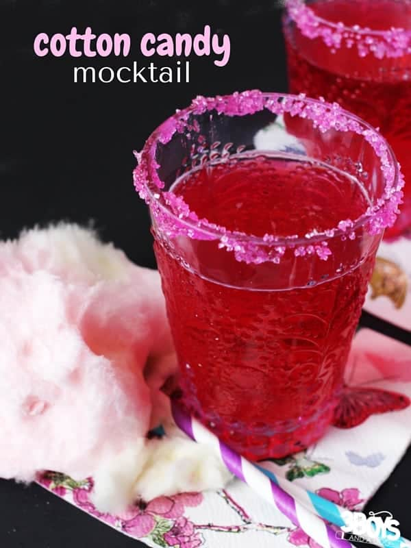 Cotton Candy Non-Alcoholic Cocktail (Mocktail) Recipe