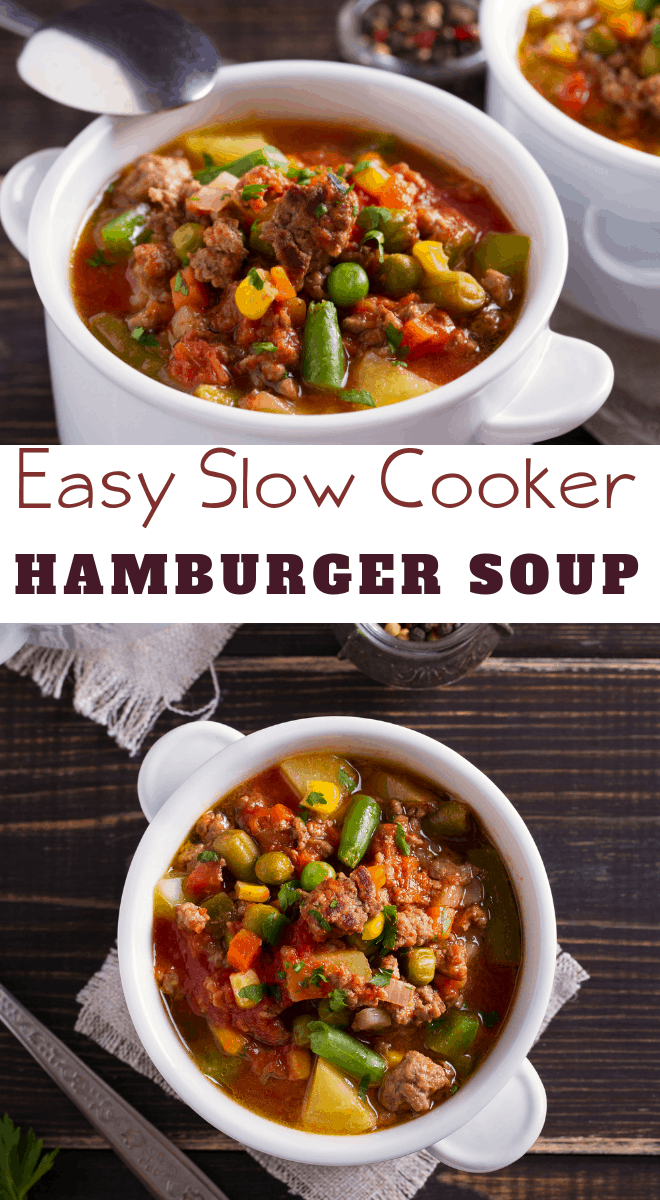 hamburger soup easy crockpot recipe