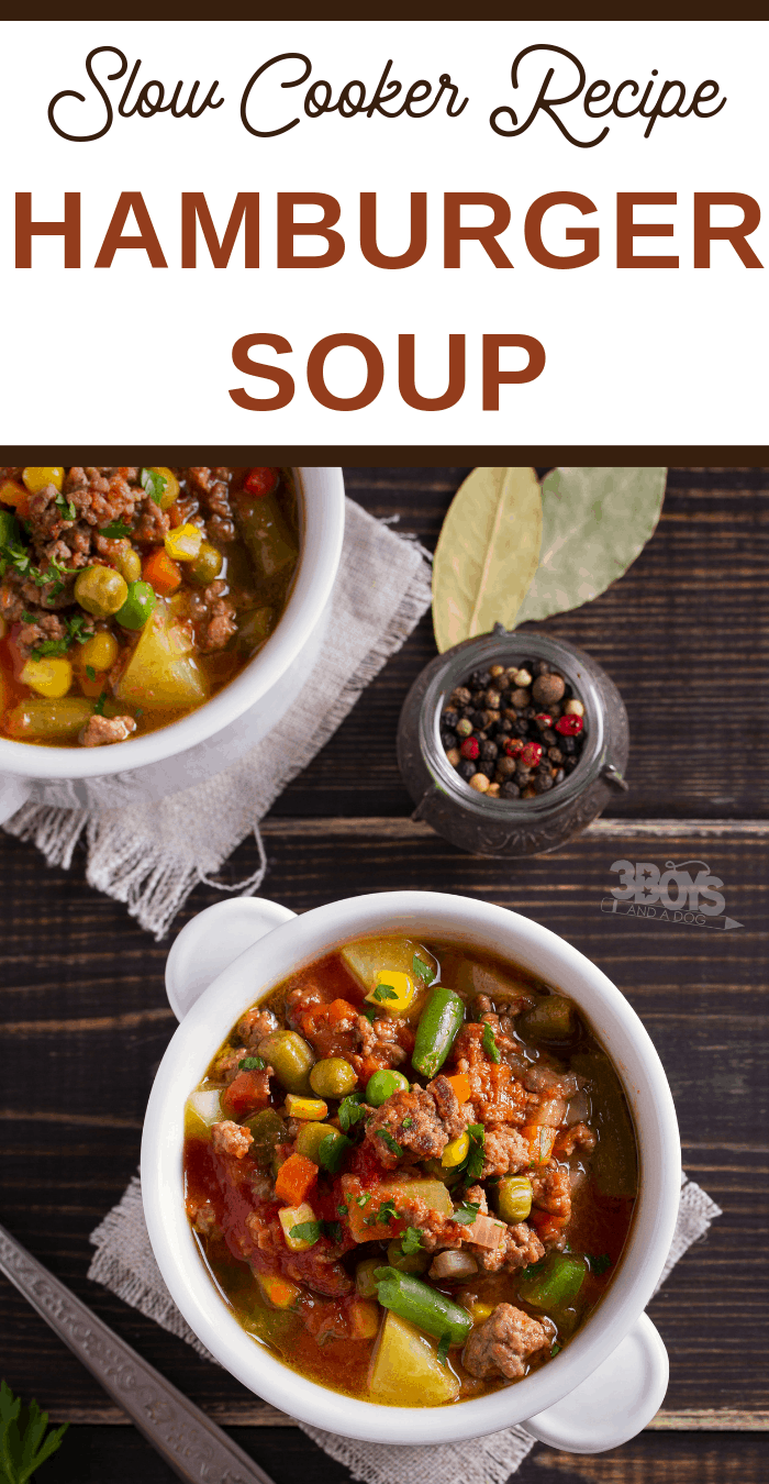 easy slow cooker hamburger soup