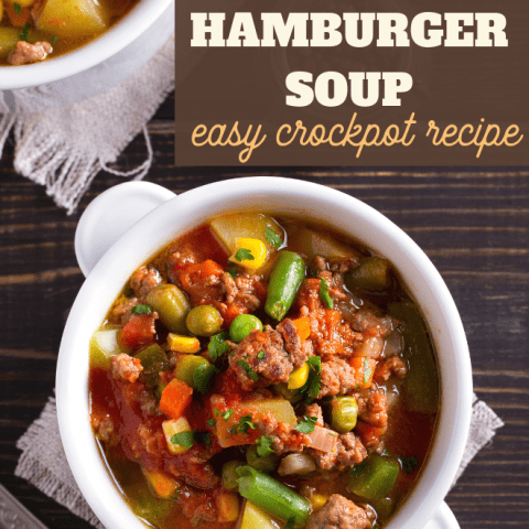 Hamburger Soup in the Slow Cooker