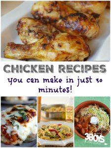 30 Minute Chicken Recipes