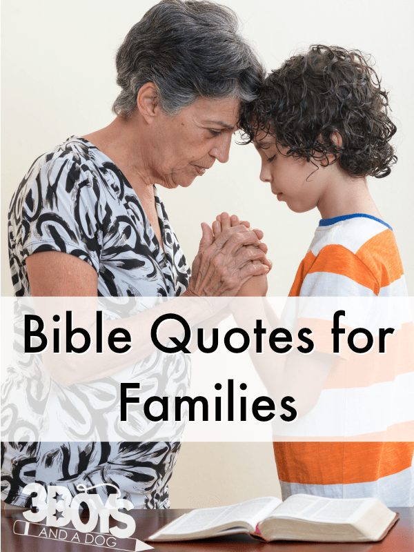 BIBLE QUOTES FOR FAMILIES