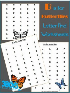 Find the Letter: B is for Butterflies