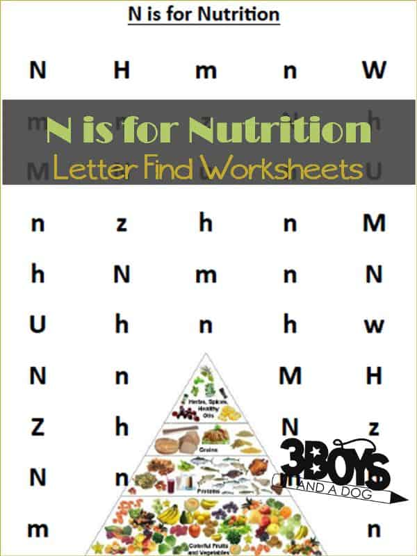 Find the Letter N is for Nutrition