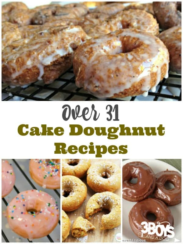 Over 31 Cake Doughnut Recipes