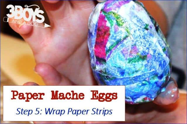 Paper Mache Eggs Step Five