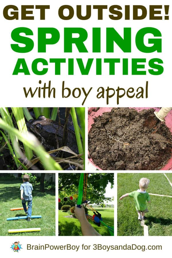 Outdoor spring activities for boys.