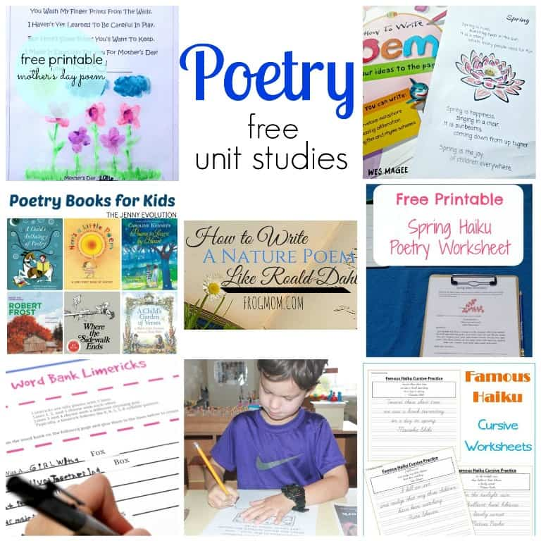 Free Poetry Unit Study Resources