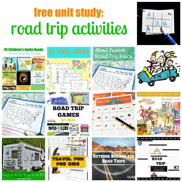 Road Trip Worksheets : Over fun road trip ideas for kids boys and a dog