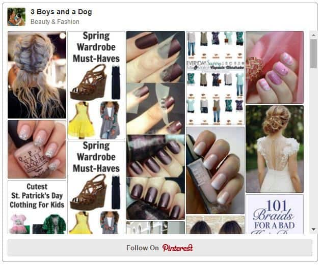 Join over 18,000 people on my beauty and fashion pinterest board
