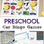 Car Bingo Games for Preschoolers