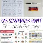Car Scavenger Hunt Printable Games