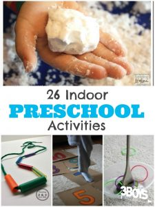 Indoor Activities for Preschoolers
