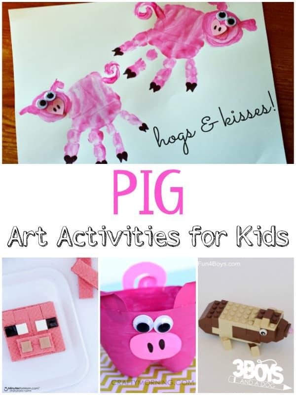 Pig Art Activities on Three Little Pigs Preschool Cutting Practice