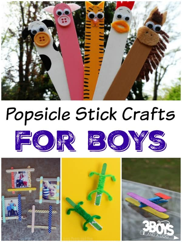 Popsicle Sticks Crafts that boys will love to do