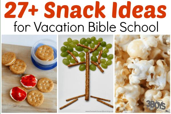Simple VBS Snack Ideas