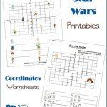 Star Wars Fun Coordinates Worksheets