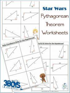Star Wars Pythagorean Theorem Worksheets