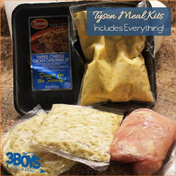 Tyson Meal Kits includes everything