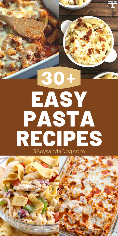 over 30 pasta recipes and ideas