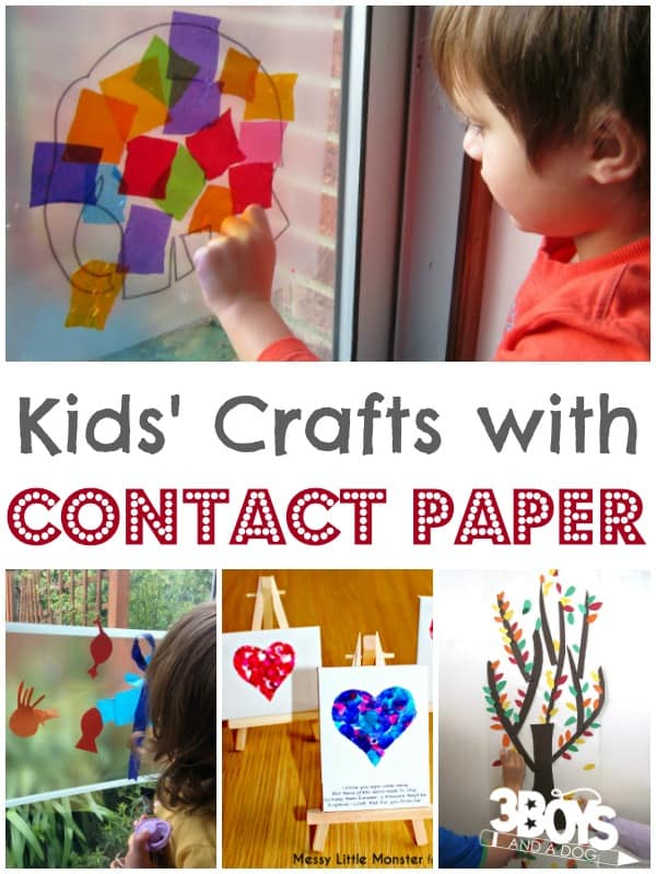 Contact Paper Crafts for Kids