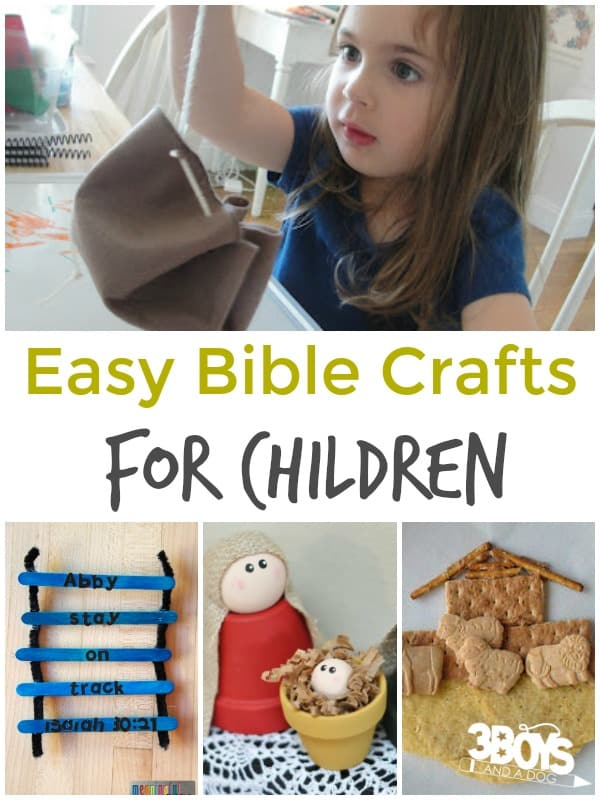Easy Bible Crafts For Children 3 Boys And A Dog 3 Boys And A Dog