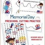 Memorial Day Preschool Cutting Practice