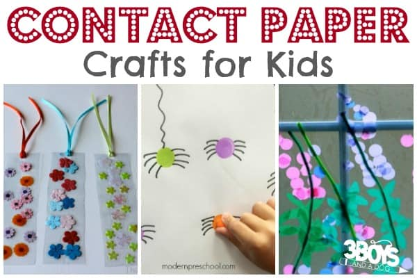 Kids Contact Paper Crafts Fun Things To Do With Contact Paper 3