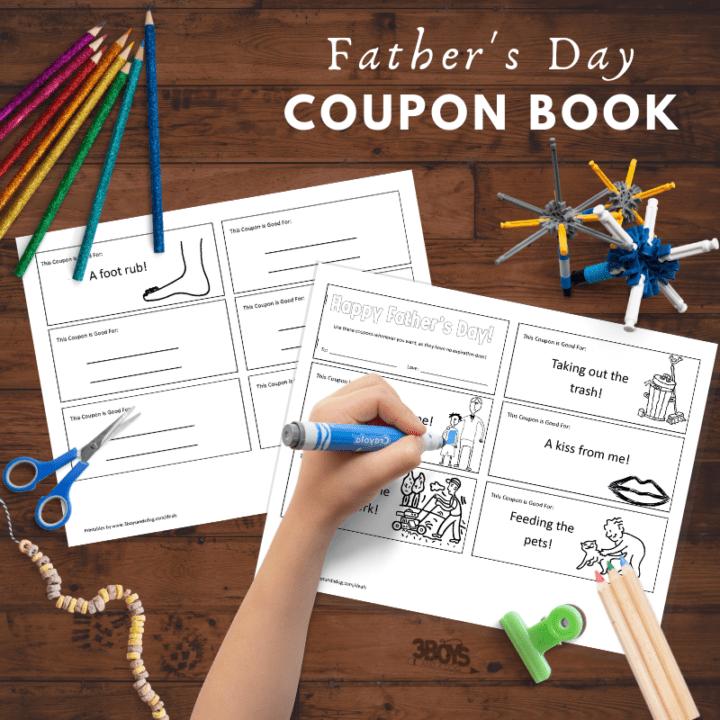 dad coupon book printable