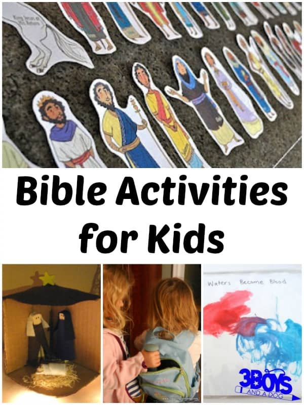 Bible Verse Printables and Activities for Kids – 3 Boys and a Dog