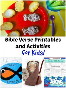 Bible Verse Printables and Activities for Kids