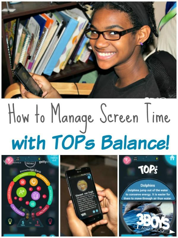 How to Manage Screen Time with TOPs Balance