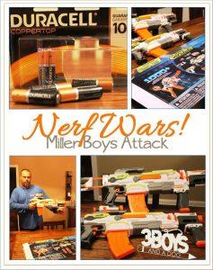 Nerf Wars: Miller Boys Attack! #TRUPowerUpFun
