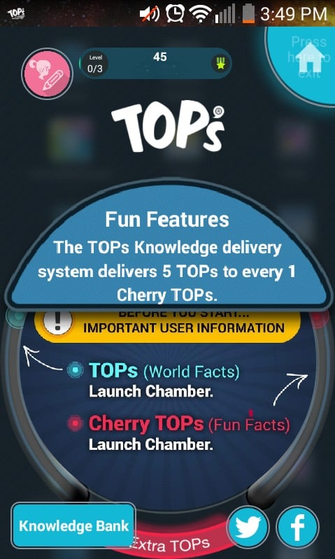 TOPs Fun Features