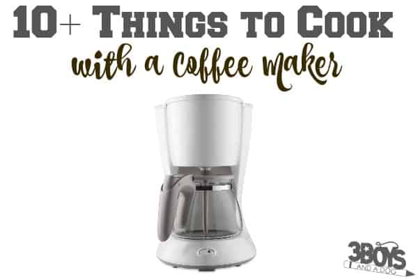Things to Cook with a Coffee Machine