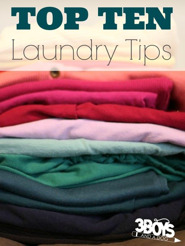 Top Ten Laundry Tips