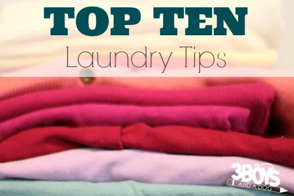Top Ten Tips for Getting Laundry Done