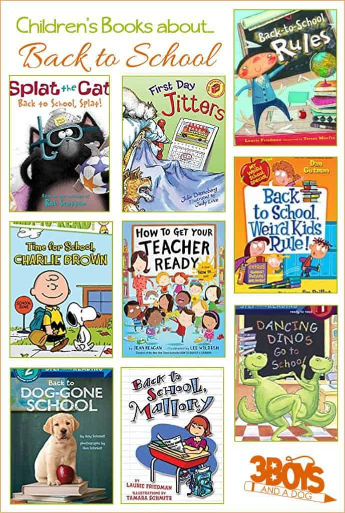 Great back to school books to reach to your children as they prepare to head back to class!