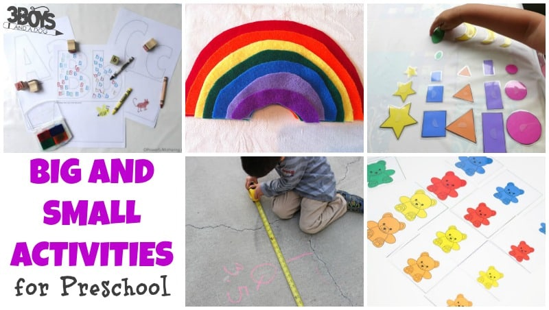 Big and Small Activities for Preschool