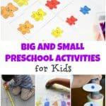Big and Small Preschool Activities for Kids