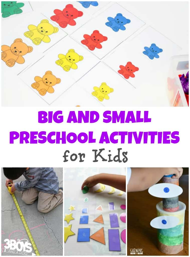 Big and Small Preschool Activities for Kids