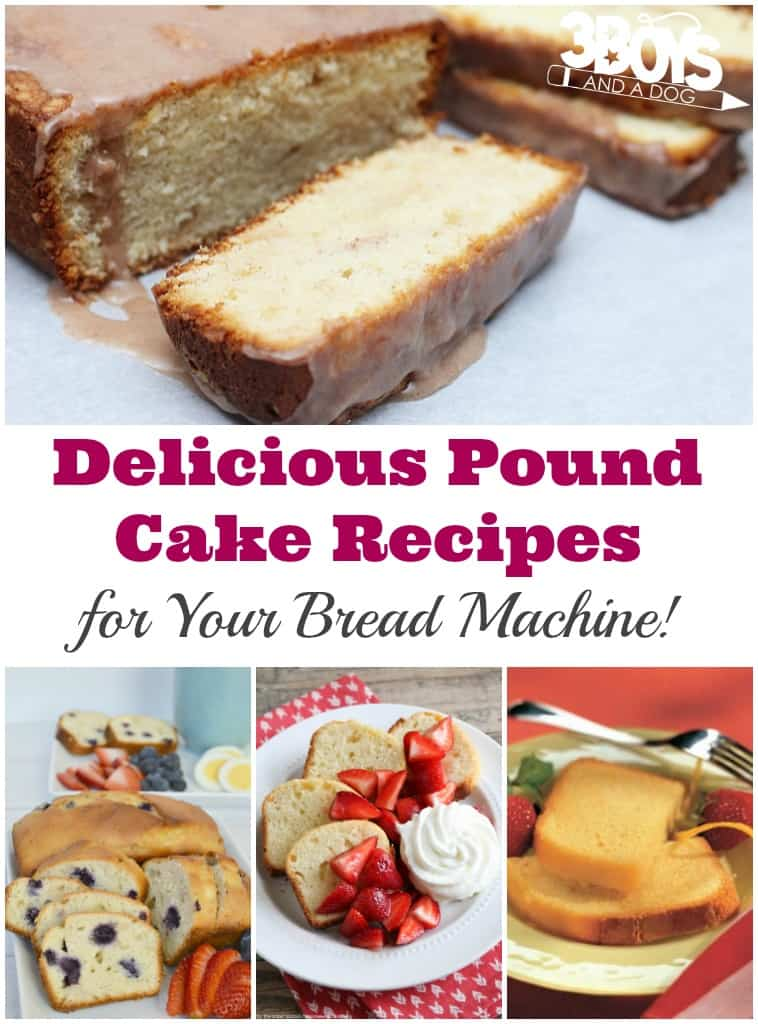 Bread Machine Pound Cake Recipes